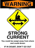 Warning - Strong Current