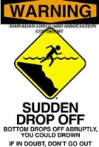 Warning - Sudden Drop Off