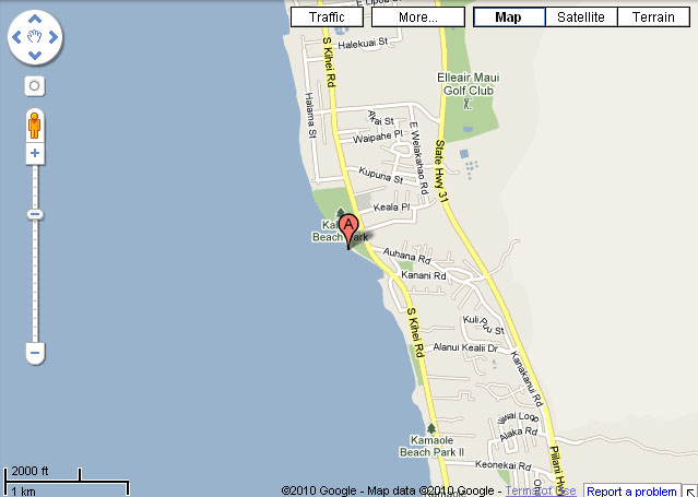Maui Charley Young Beach Google Map - Hawaii Hideaways ...