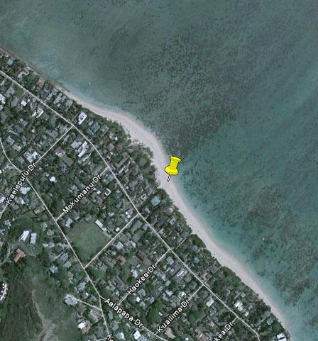 Oahu Lanikai Beach Park Google Earth Hawaii Hideaways