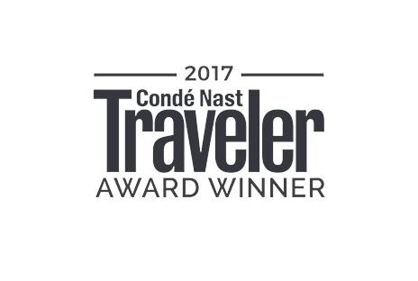 2017 Conde Nast Traveler Award Winner