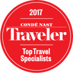 conde nast traveler 2017 top travel specialist award badge
