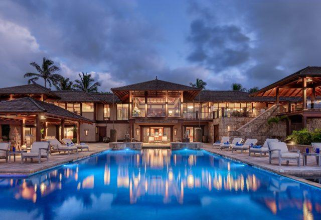 Millennial Sunrise - Beautifully lit pool and home - Kauai Vacation Home