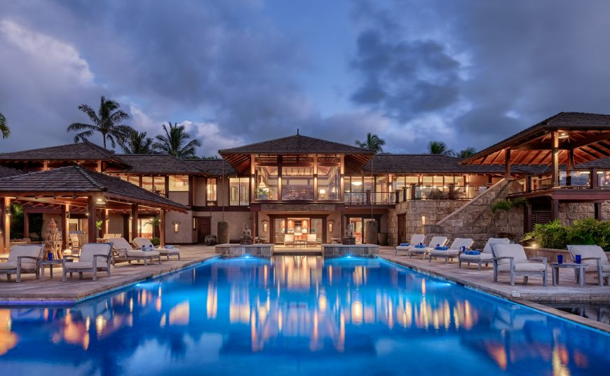 Millennial Sunrise - Beautifully lit pool and home - Kauai Vacation Home