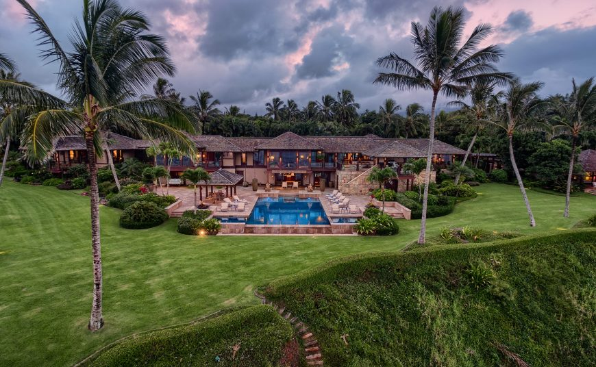 Millennial Sunrise - Aerial View of the rear of the home - Kauai Vacation Home