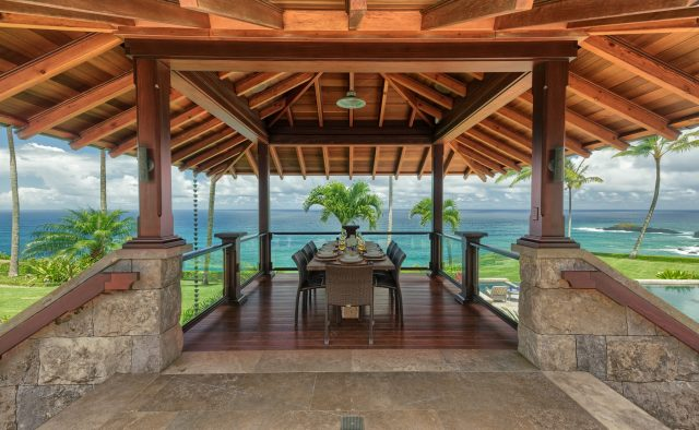 Millennial Sunrise - Dining on covered deck - Kauai Vacation Home