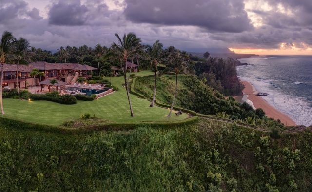 Millennial Sunrise - Aerial shot of home - Kauai Vacation Home