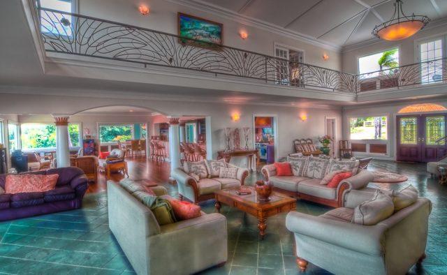 Kauai Serenity - Main Foyer Lounge Area - Kauai Vacation Home