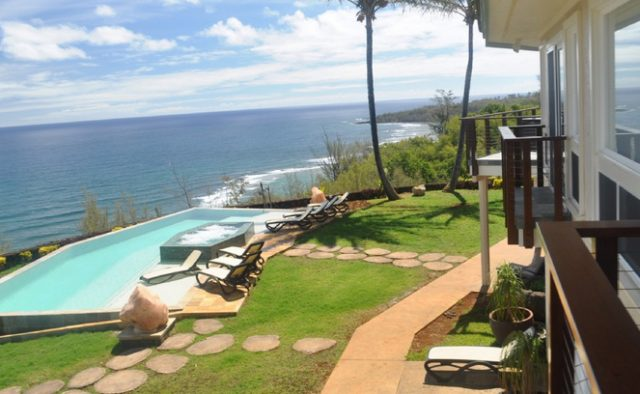 Kauai Serenity - Balcony View of the pool - Kauai Vacation Home