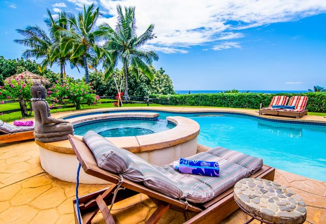 Misty Rose - Pool and ocean view - Maui Vacation Home