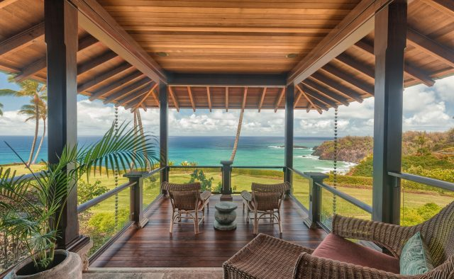 Millennial Sunrise - Covered Seating on the balcony - Kauai Vacation Home