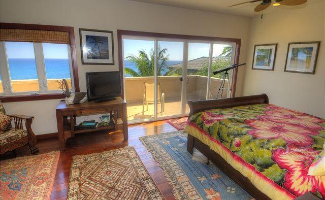 Breakwater - Bedroom with telescope- Poipu Kauai Vacation Home