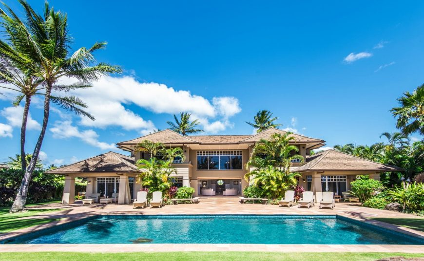Golden Glow - Rear view of the house - Maui Vacation Home