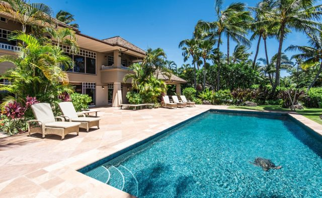 Golden Glow - Pool and view of home - Maui Vacation Home