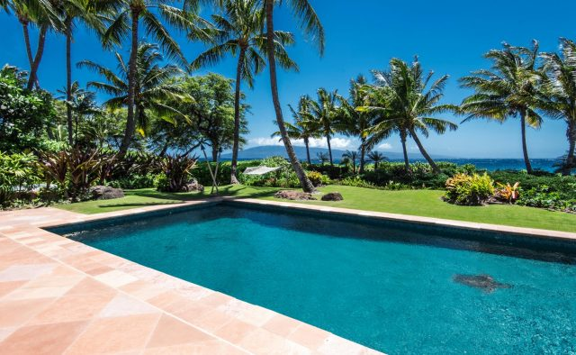 Golden Glow - Pool at daytime - Maui Vacation Home