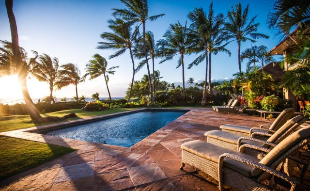 Golden Glow - Pool and patio - Maui Vacation Home