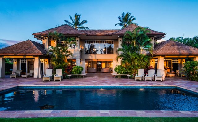 Golden Glow - Rear of the house - Maui Vacation Home