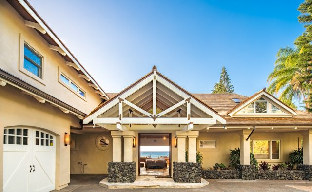 Pristine Manor Luxury Home Rental - Front Door - Hawaii Hideaways