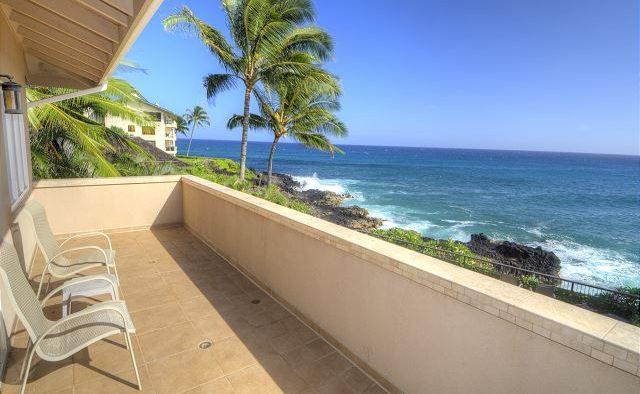 Breakwater - Back Patio looking at ocean - Poipu Kauai Vacation Home