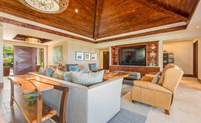 Hualalai Anea Estate 101 - Living area - Hawaii Vacation Home