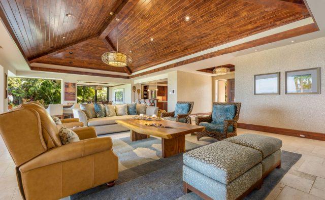 Hualalai Anea Estate 101 - Living area 2 - Hawaii Vacation Home