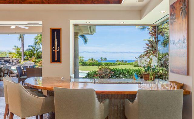 Hualalai Anea Estate 101 - Bar with view - Hawaii Vacation Home
