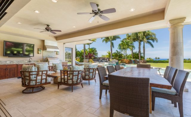 Hualalai Anea Estate 101 - Outdoor patio and seating - Hawaii Vacation Home