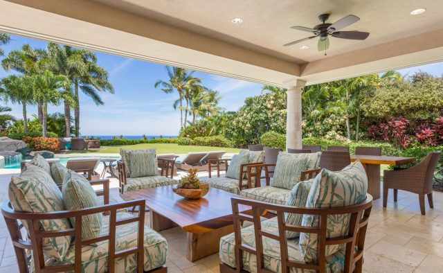 Hualalai Anea Estate 101 - Large outdoor seating area - Hawaii Vacation Home