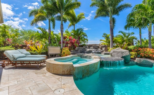Hualalai Anea Estate 101 - Hot tub, water feature and pool - Hawaii Vacation Home