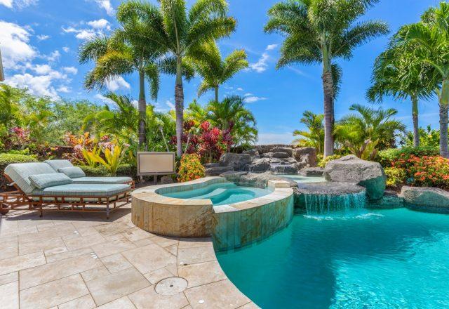 Hualalai Anea Estate 101 - Hot tub, water feature and pool - Hawaii Vacation Home