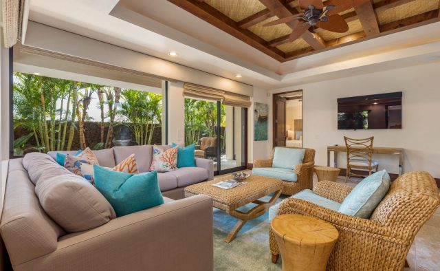Hualalai Anea Estate 101 - Secondary Living area (Alternative View) - Hawaii Vacation Home