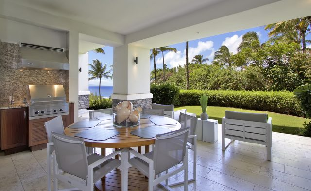 Aqua Surf at Montage - Patio table and grill - Maui Vacation Home