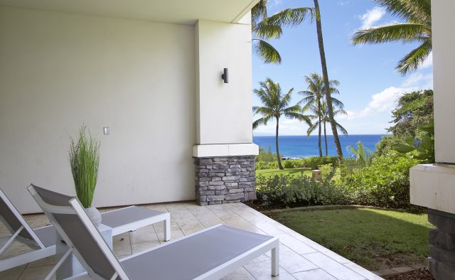 Aqua Surf at Montage - Back Patio - Maui Vacation Home