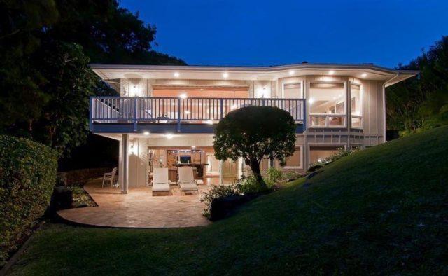 Bamboo Vista - Rear view of the house at night - Maui Vacation Home