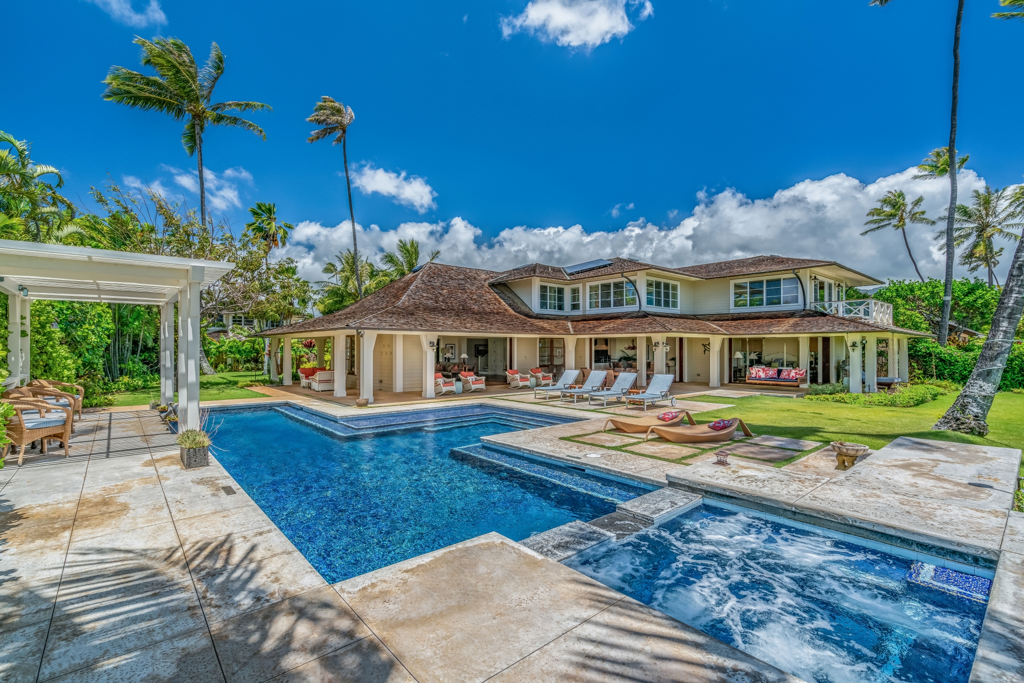 Coral Reef - Pool and hot tub - Oahu Vacation Home