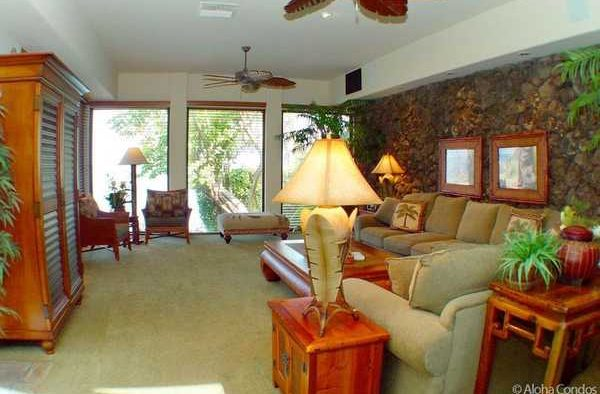 Dynamic Falls - Living Room - Hawaii Vacation Home