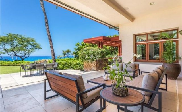 Decadent Bliss - Living area with patio - Hawaii Vacation Home