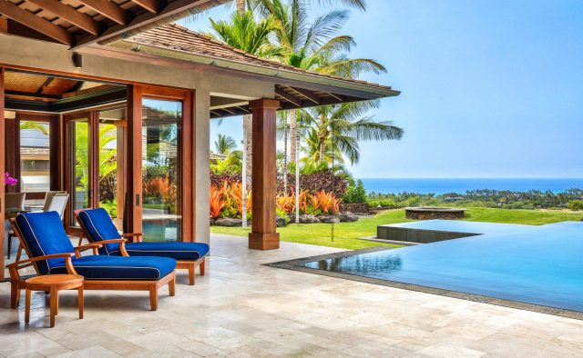 Endlessly - Back Patio and pool - Hawaii Vacation Home