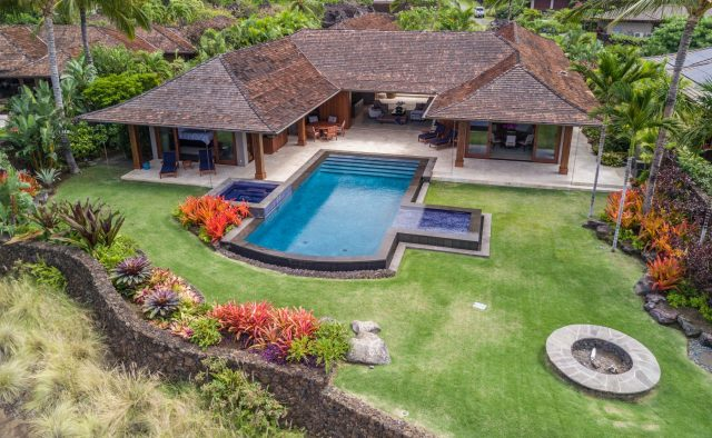 Endlessly - Aerial View of pool - Hawaii Vacation Home