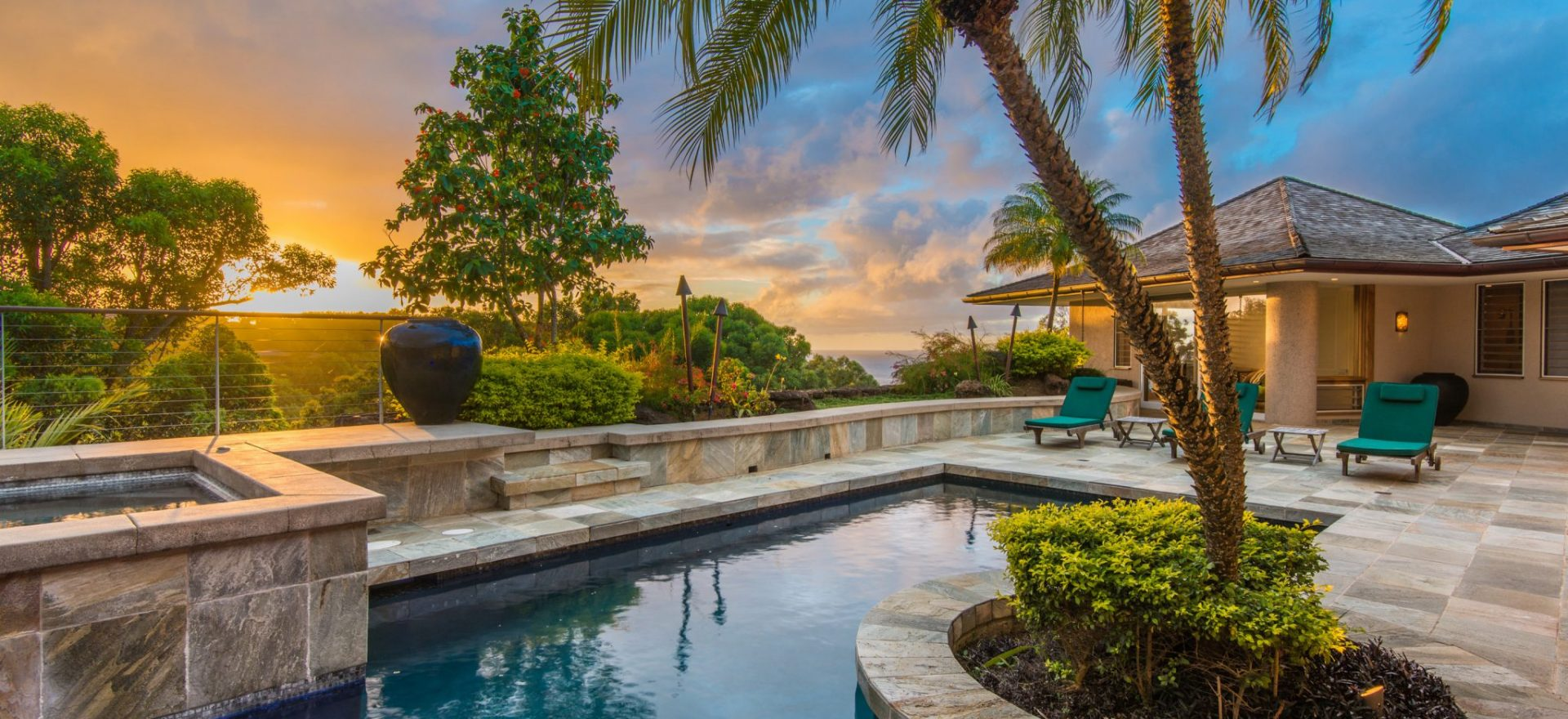 Blue Lapis - Back Patio and pool - Hawaii Vacation Home