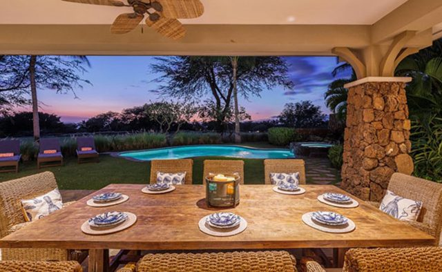 Clear Skies - Patio Dining area - Hawaii Vacation Home