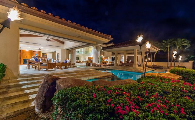 Golden Sands - Back of home at night - Maui Vacation Home