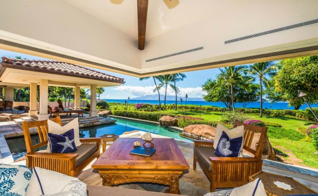 Golden Sands - Patio, Pool and Cabana - Maui Vacation Home