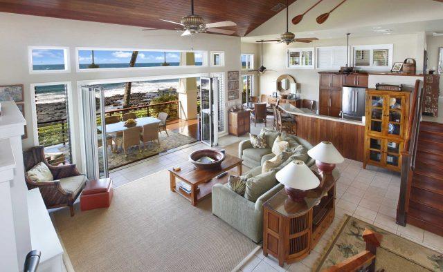 Starlit Getaway - Living Room - Hawaiian Luxury Vacation Home