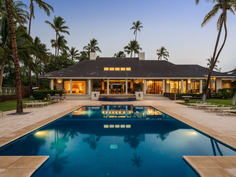Honualai - Pool and rear view of home - Hawaii Vacation Home