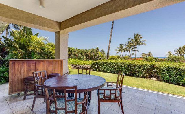 Hualalai Resort Hillside 4102 - Dining area on the Patio - Hawaii Vacation Home