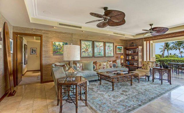 Hualalai Resort Hillside 4102 - Living area - Hawaii Vacation Home