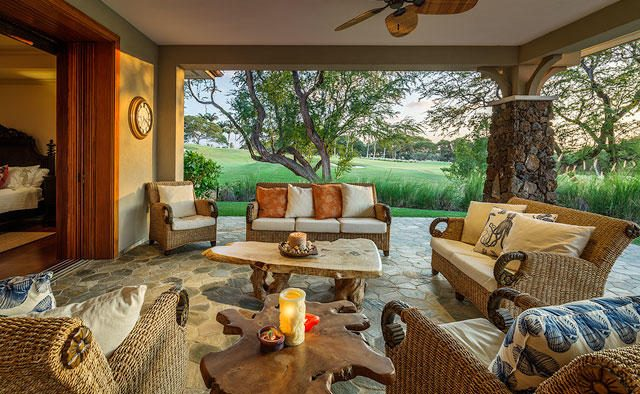 Clear Skies - Outdoor sitting area - Hawaii Vacation Home