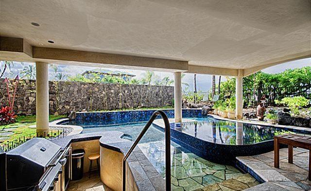 Kona Bay Estates Bliss - Pool and Grill - Hawaii Vacation Home