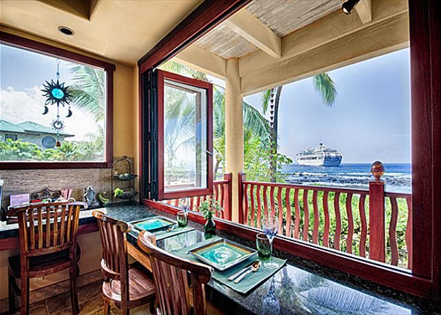 Kona Bay Estates Bliss - Counter with ocean view - Hawaii Vacation Home